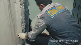 видео Монтаж филенчатой шпонированной двери в новостройке