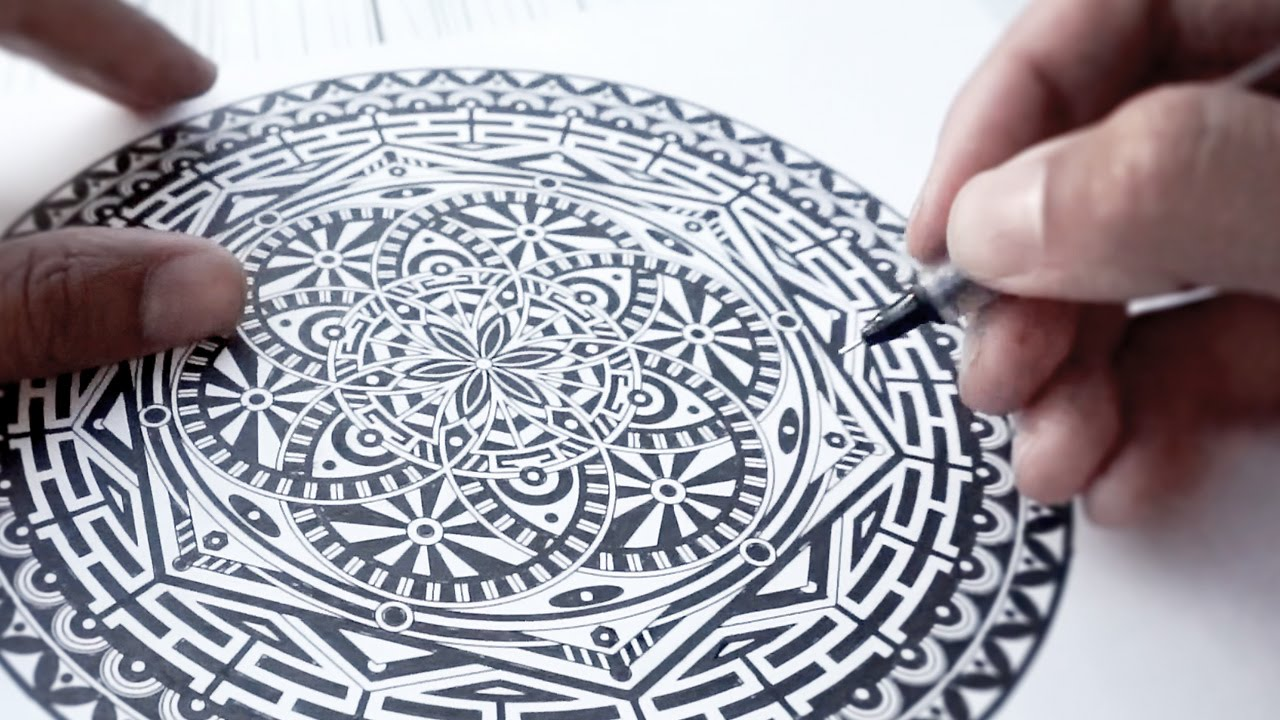Watch Me INK Mandala A Page From My Color Book YouTube