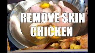 TO REMOVE THE SKIN FROM A CHICKEN THIGH | YOU CAN DIP YOUR FINGERS IN SALT !!