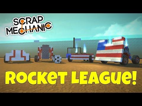 Rocket League Soccer (Canada Vs USA) - Scrap Mechanic Multiplayer - EP 182