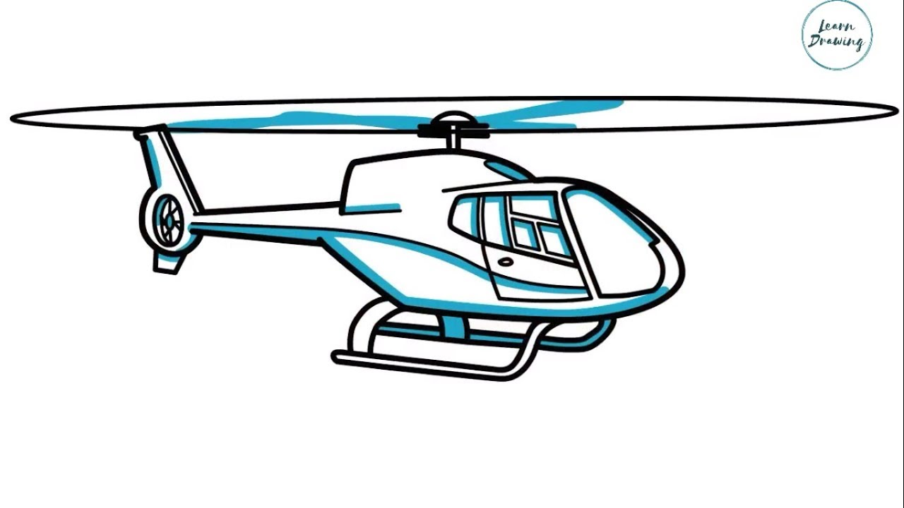 How to Draw a Helicopter step by step Very Easy Drawing ...