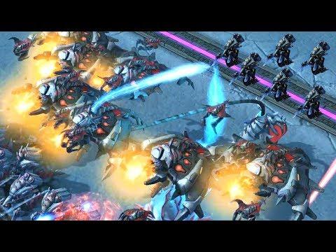 Demostrating How Broken The Mecha Battlecarrier Lord Direct Strike Starcraft 2 Mod