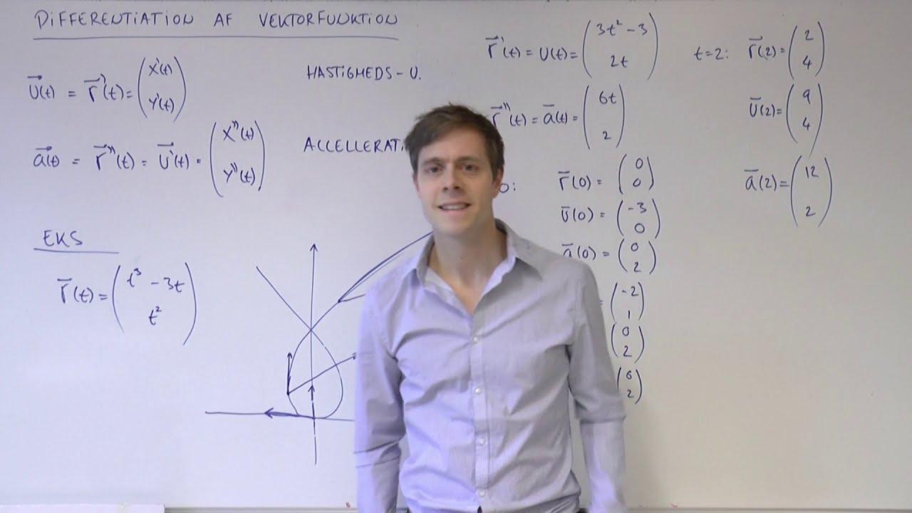 Differentiation af vektorfunktion