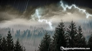 10 Hours Rain Thunder Rainstorm Sounds For Sleep Studying Or Relaxation Nature White Noise