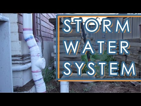 How To Install A Storm Water Drainage System - Backyard Renovation Part 4