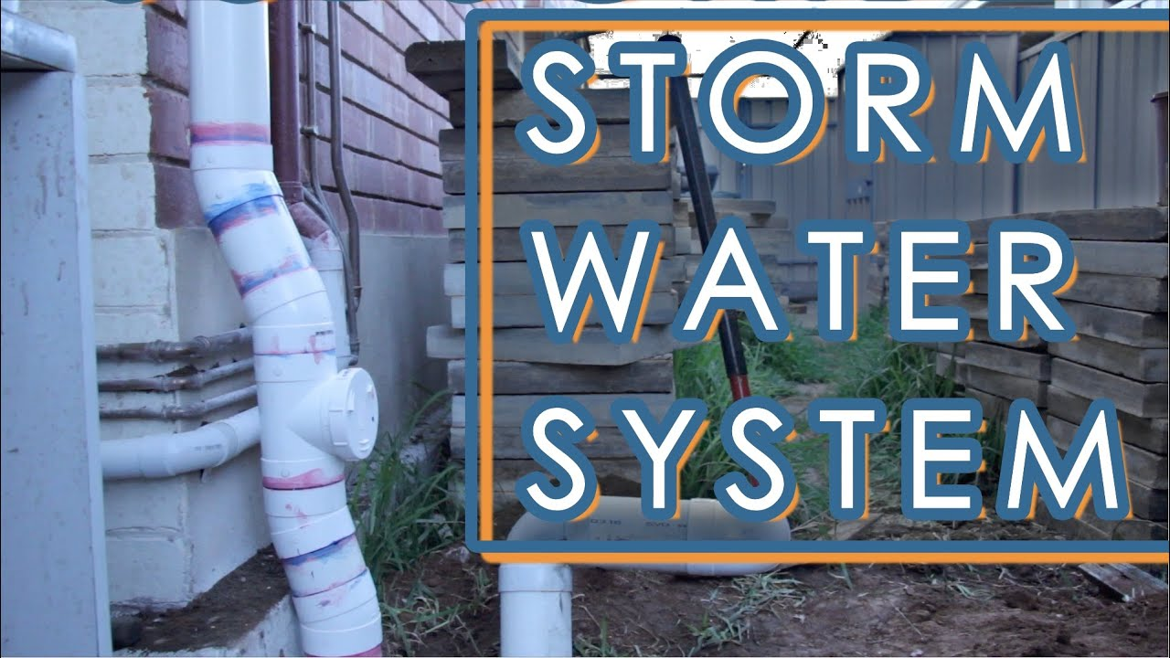 How to install a storm water drainage system backyard for Installing a drainage system in your yard