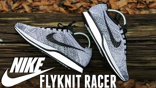 """Nike Flyknit Racer """"Oreo 1.0"""" w/ On Foot"""
