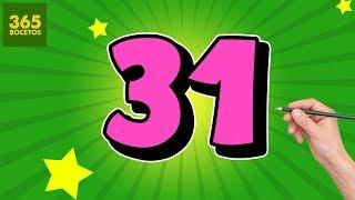 INCREIBLE TRUCO CON EL NUMERO 31 - DIBUJO UN GRAFITERO CON EL NUMERO 31