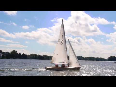Sailing on Geist Reservoir in Fishers, Indiana