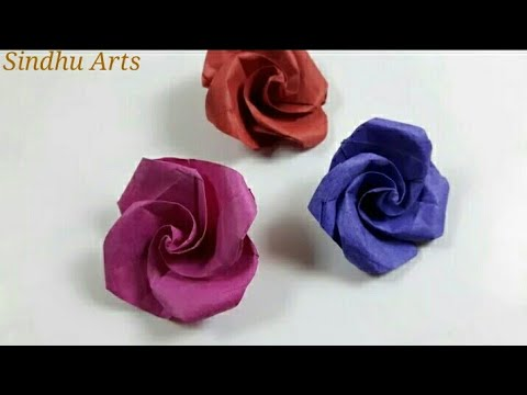 How to Make Beautiful Paper Rose Without Glue. ?
