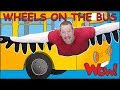 Wheels On The Bus Go with Steve and Maggie | Learn Free Speaking with Wow English TV