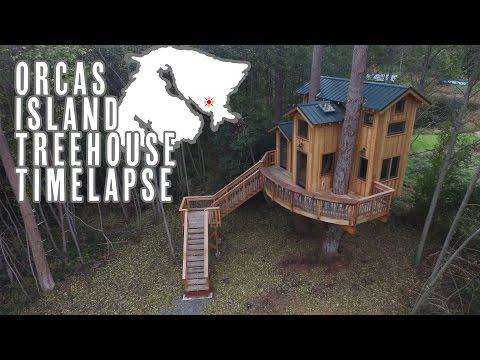 Treehouse Timelapse On Orcas Island
