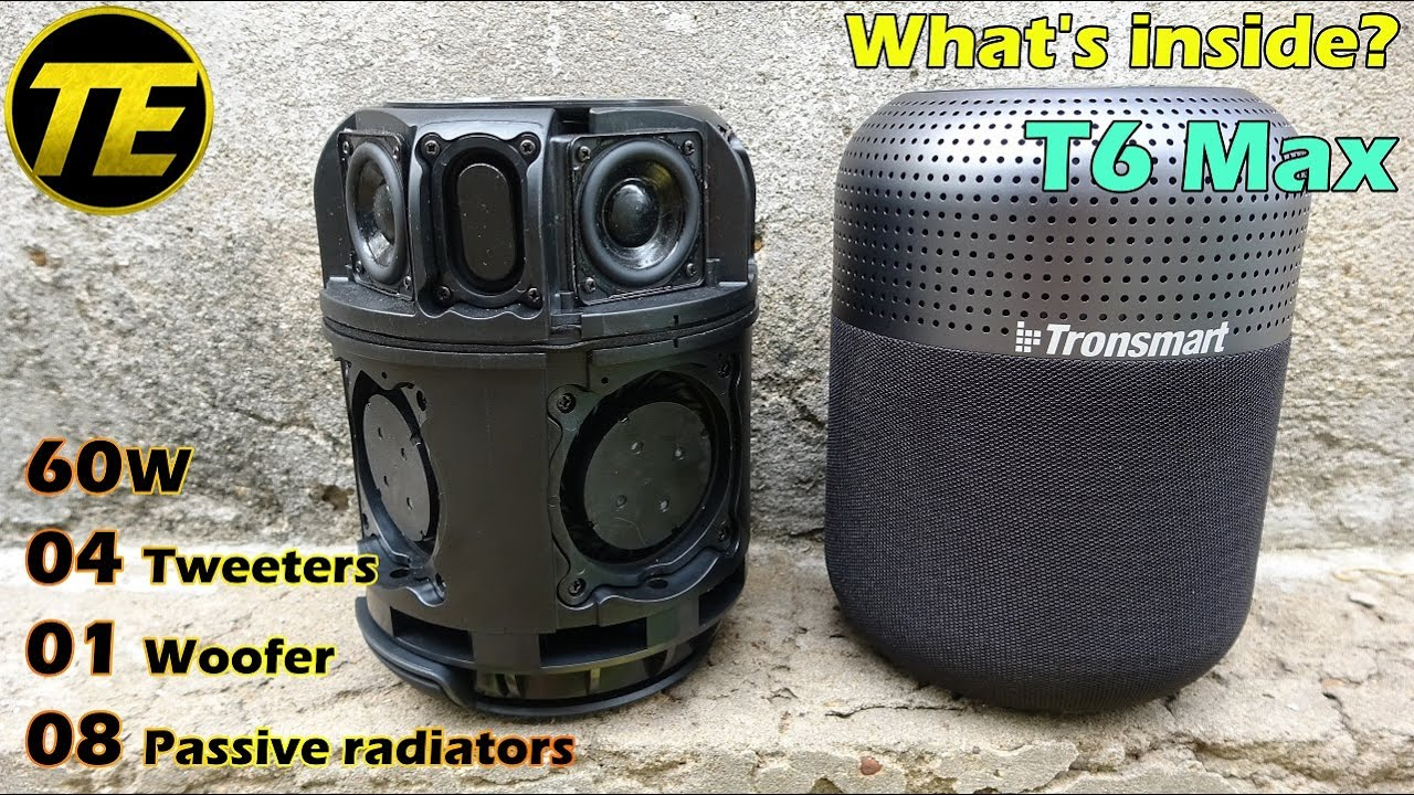 What's inside Tronsmart Element T6 Max 60W Bluetooth Speaker