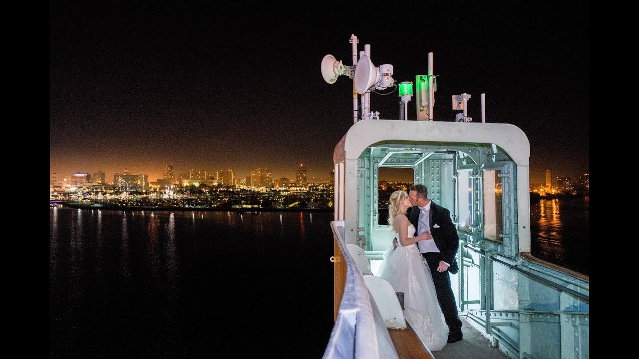 Shooting A REAL Wedding Part 3 Night Time Shoot W Off Camera Flash LED Lighting At The Queen Mary