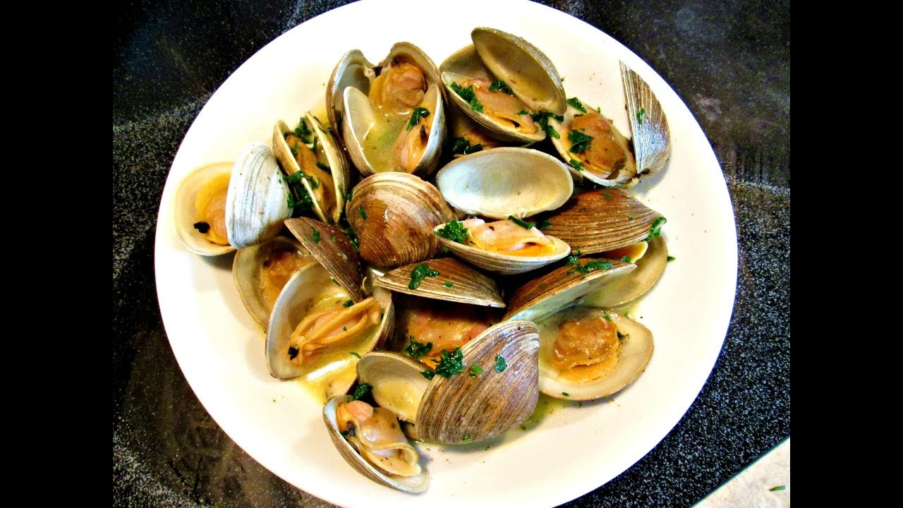 Steamed Clams Cooking Live Littleneck Clams To