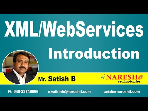 Introduction to XML/WebServices   XML Tutorial   Mr. Satish B
