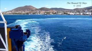 Blue Star Delos at Paros port (Trip Part 2)