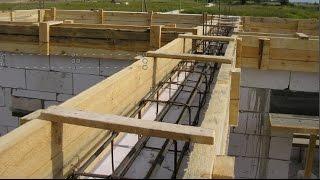 видео Перекрытия в кирпичном доме: устройство деревянной и монолитной плитной конструкции