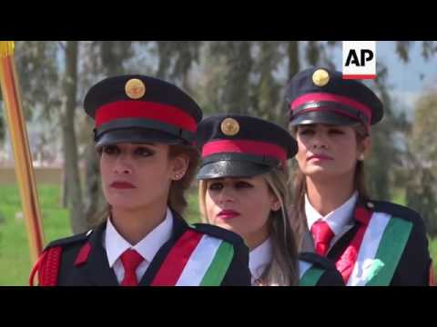 First class of female Kurdish military officers graduates
