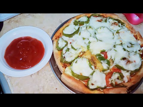 صورة  طريقة عمل البيتزا طريقة عمل بيتزا الفراخ مفيش اسهل والااسرع  من كده🔔👍 طريقة عمل البيتزا من يوتيوب