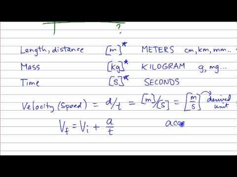 Physics Basics Dimensional Analysis DJD vid 2) - YouTube
