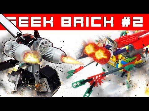 LEGO-Самоделки, Робот с моторчиком, Самый дешевый конструктор [Geek Brick]
