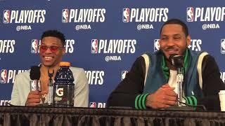 Thunder vs Jazz Game 1 - Russ and Melo