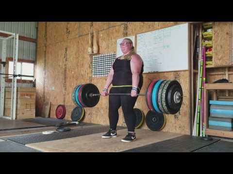 Grace Rigel Leipsic High School 182.5kg dead lift. 22.5kg PR.