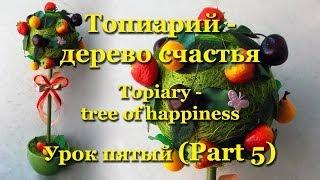 Топиарий (Topiary) - дерево счастья. Мастер-класс. Урок 5