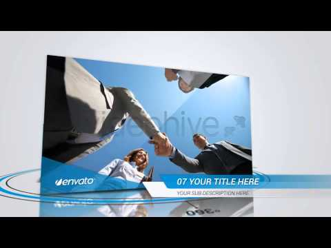 simple & clean corporate slideshow - after effects template - youtube, Presentation templates