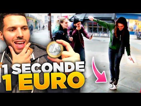 JE LEUR DONNE UN EURO PAR SECONDE !