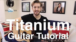 Titanium Guitar Lesson Tutorial (Acoustic) David Guetta/ Sia
