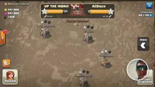 Clash of Clans UP THE IRONS by JONAX1995