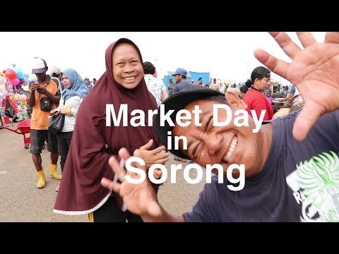 Busy market day in Sorong, West Papua