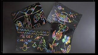 Paper Crafts: DIY Scratch off Card for kids | Scratch off Rainbow Cards