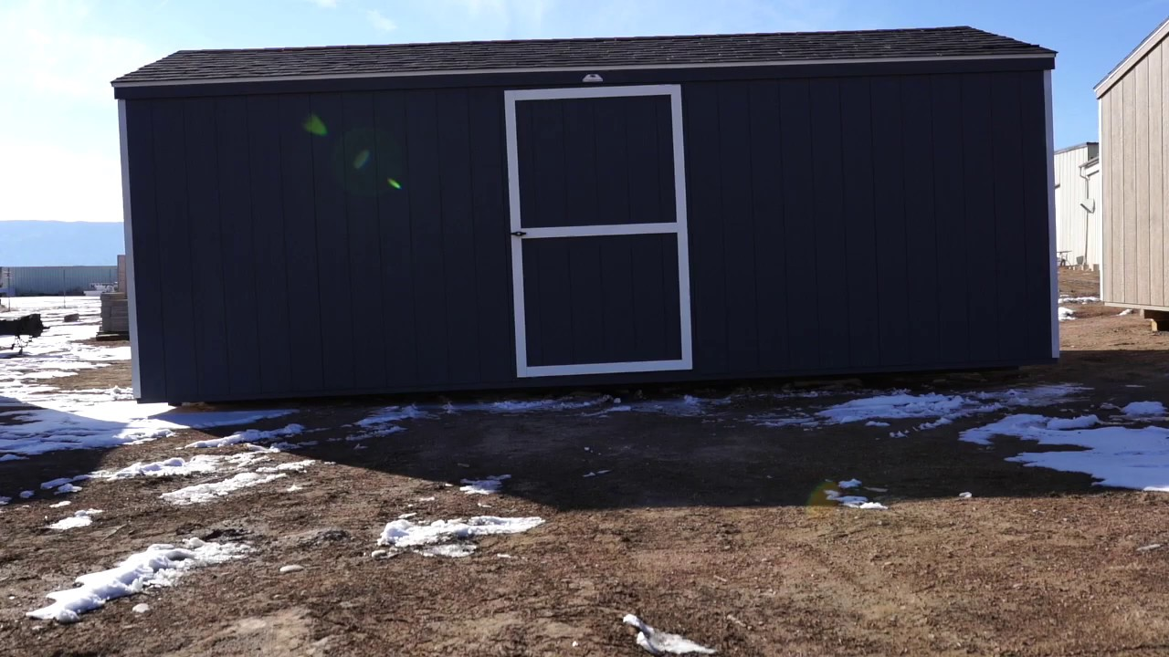 The Shed Yard - 10x20 Economy A Frame Shed Gray