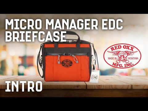 Red Oxx Micro Manager Everyday Carry Device Briefcase Introduction Video