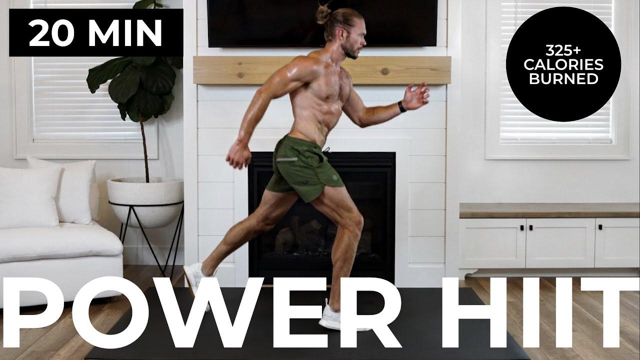 20 Min Power HIIT | Intense Cardio Workout (No Equipment)