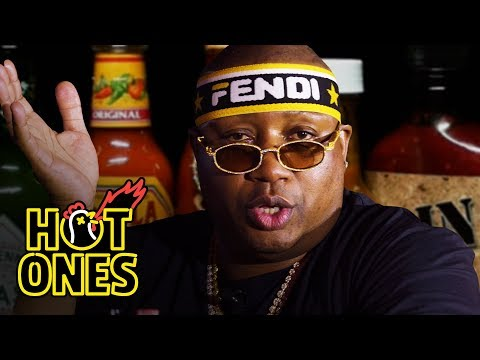 E-40 Asks a Fan to Save Him While Eating Spicy Wings | Hot Ones