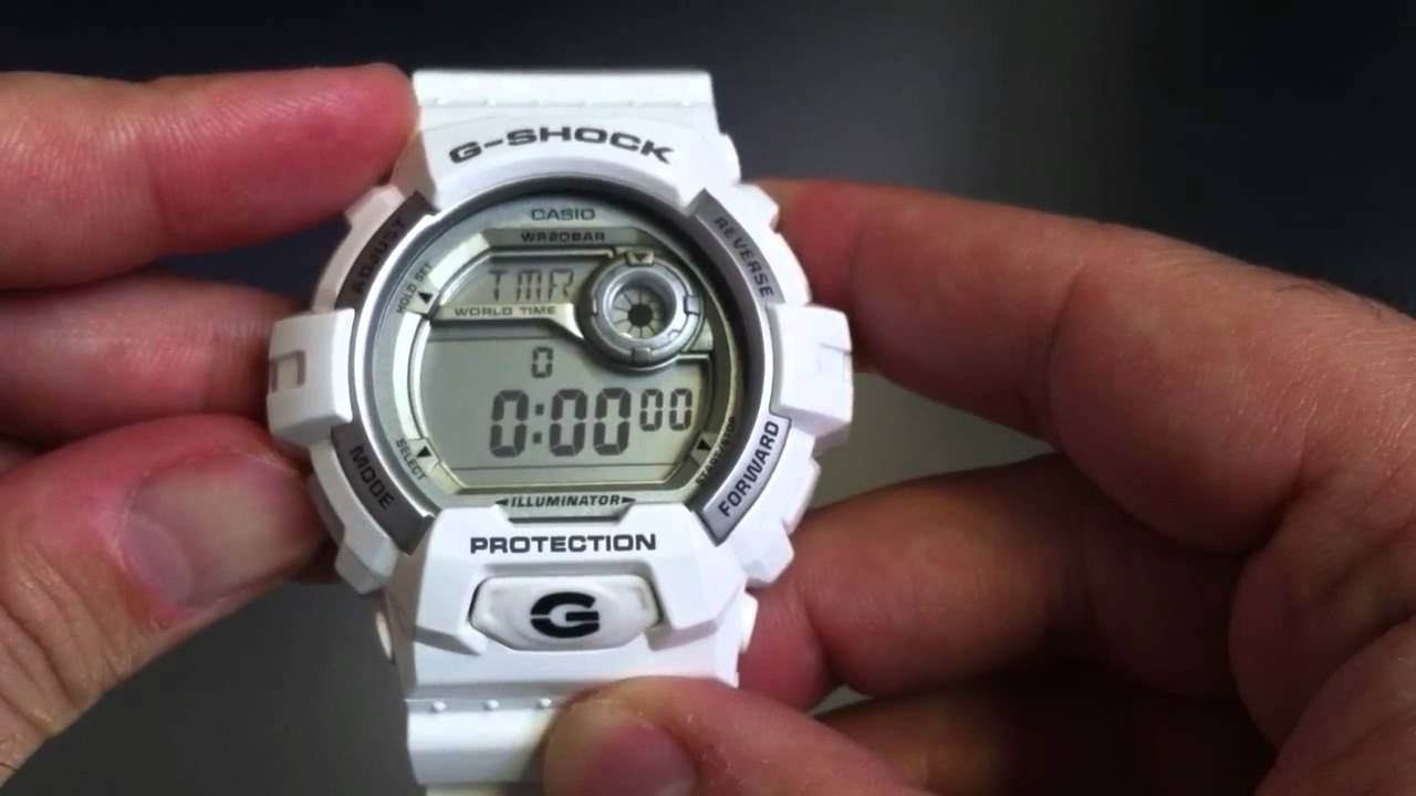 cheap for discount fd765 980f2 White Casio G-Shock World Time Watch G8900A-7