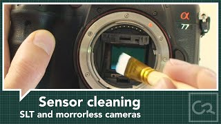 Cleaning the sensor of SLT and mirrorless cameras