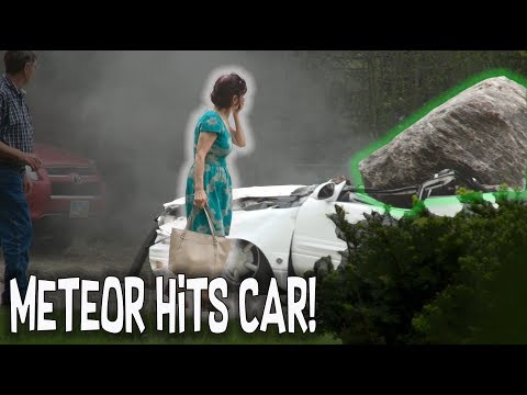 METEORITE HITS HER CAR!! - EPIC HOW TO PRANK