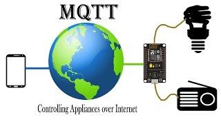 MQTT + Nodemcu (Controlling appliances over Internet using your Smart Phone)| IoT Projects | ESP8266