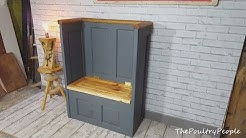 DIY Reclaimed Old door projects - Settle with storage