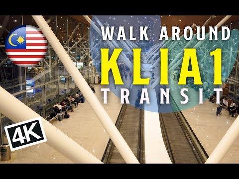 [4K]Walk Around KLIA1 - Transit in Kuala Lumpur Airport [Malaysia]