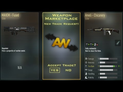 Trading system in advanced warfare