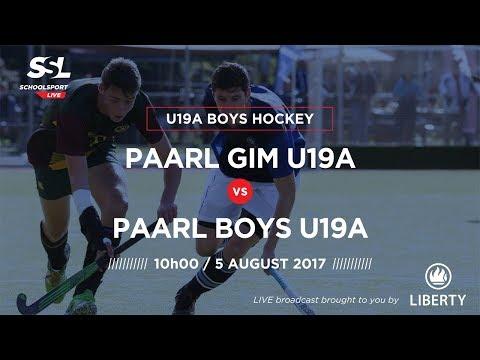 Hockey, Paarl Gim U19A vs Paarl Boys U19A, 05 August 2017