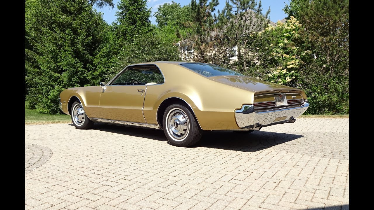 1966 Oldsmobile Olds Toronado in Trumpet Gold   Engine Sound on My     1966 Oldsmobile Olds Toronado in Trumpet Gold   Engine Sound on My Car  Story with Lou Costabile