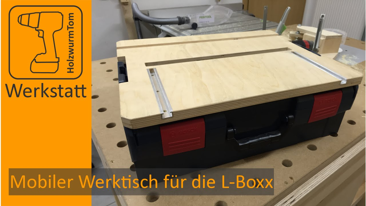 bosch sortimo l boxx mobiler werktisch youtube. Black Bedroom Furniture Sets. Home Design Ideas