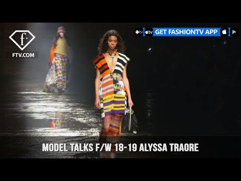 Alyssa Traore Model Talks Fall/Winter 2018-19   FashionTV   FTV